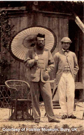 Capt. Robert Blount (on right) was small in stature but very fast.