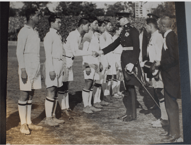 British Governor-General meets Japanese players before first international in 1930