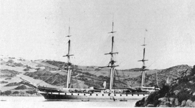 USS Colorado in 1861 - it was launched in 1858 and played key role in blockading Confederate shipping in US Civil War