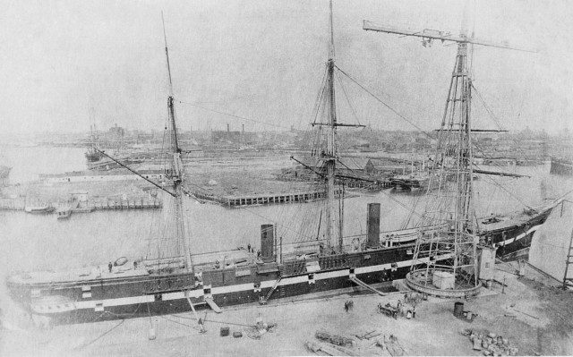 USS Tennessee in 1875