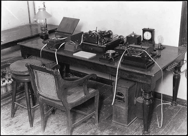 Inside the International Telegraph Cable Relay Station (Courtesy NTT)
