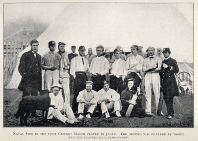 1863 cricket - Navy Team Half the players also played football Rawson sits right of front row