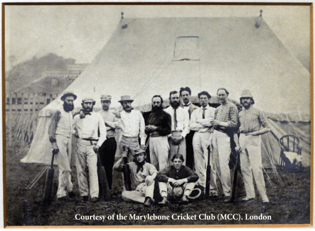 1863 cricket -Shore Team Half the player also played football WH Smith sits right on right